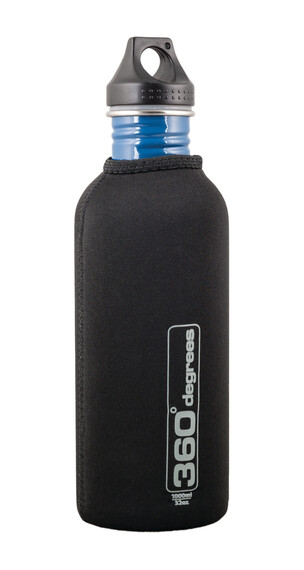 360° degrees Neoprene Pouch for Stainless Drink Bottle 1000ml Black